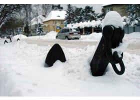 Śnieżny poranek w Ustce, fot.SAS