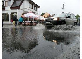 Ustka  w deszczu, fot.SAS