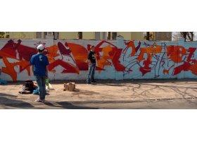 Graffiti Jam w Słupsku 2013. Ściany przykrył Witkacy, fot.SAS