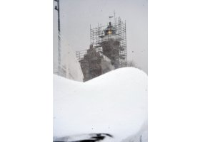 Śnieżyca w Ustce, fot.SAS