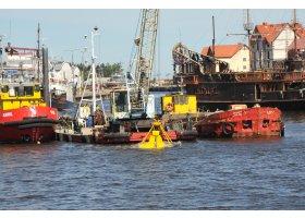 Pogłębianie portu w Ustce, fot.SAS