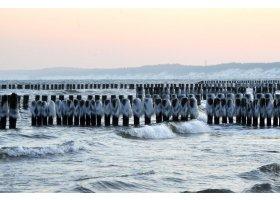 Zimowa plaża w Ustce, fot.SAS