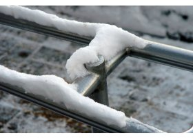 Ustka pokryta śniegiem, fot.SAS