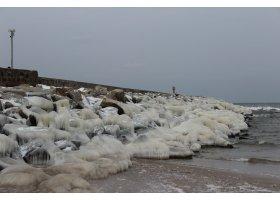 Zlodzona plaża w Ustce, fot.Karolina Surowiec