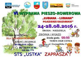 """VI WYPRAWA PIESZO-ROWEROWA """"ŁUBIANA-LUBIANA""""(...)"""