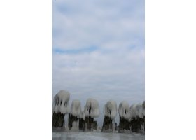 Ustecka plaża pokryta lodem, fot.Karolina Surowiec